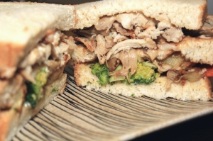 Chicken stuffing sandwich