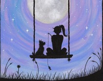 girl-and-dog-on-swing