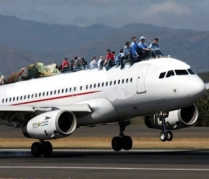Overcrowded Plane