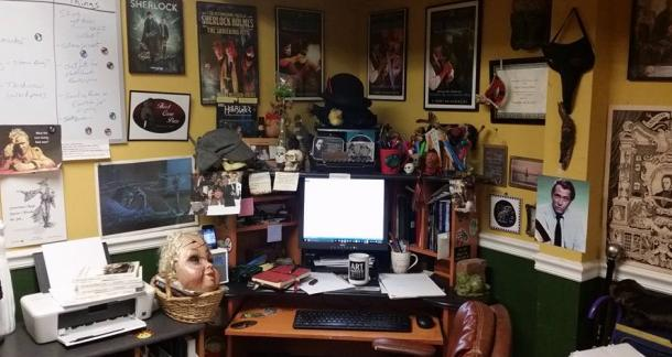 Horror writer desk