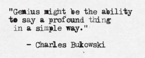 Bukowski Genius