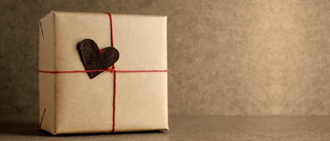 Black heart gift