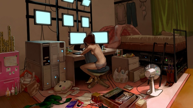 Girl in future bedroom