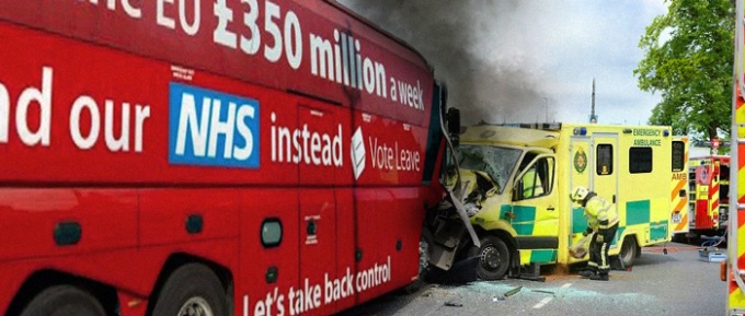 Brexit Bus Ambulance