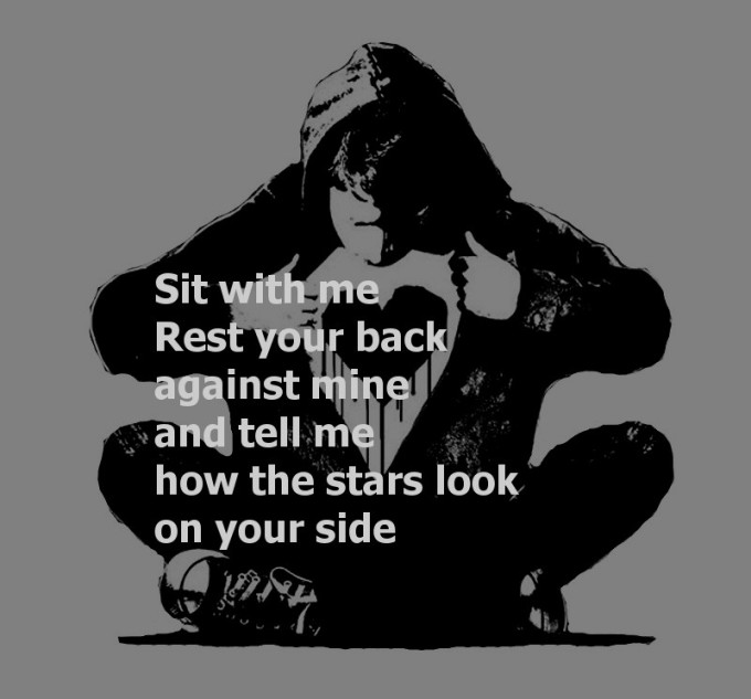 Monkey Black heart Sit With Me