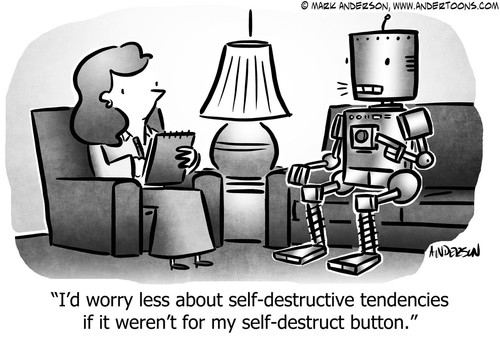 Self destructive robot