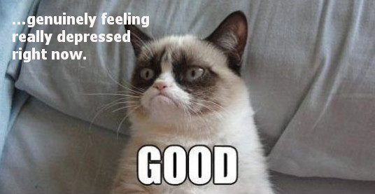 Grumpy cat depressed GOOD