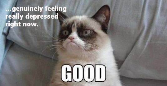 Grumpy cat depressed GOOD