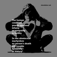 The matter of mortal history