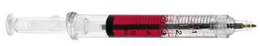 Syringe pen red