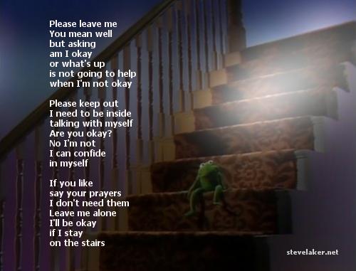 Halfway up the stairs Poem
